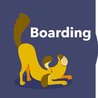 sunset dog retreat boarding logo